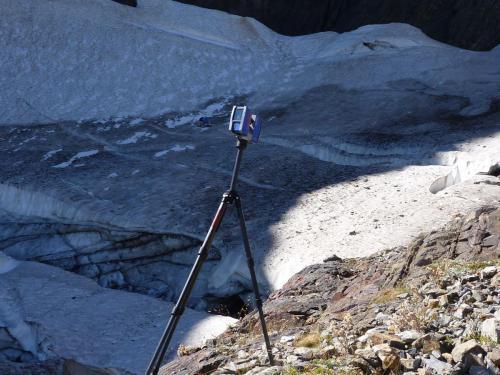 Scan du glacier de l'Arcouzan