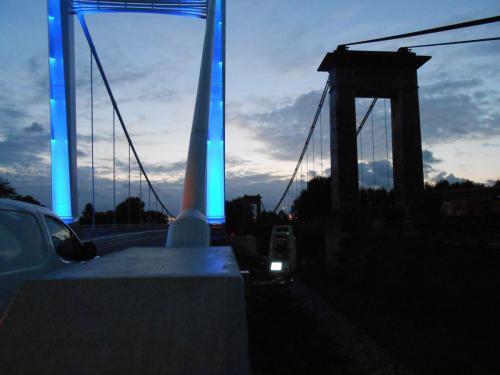 Auscultation pendant le démontage du Pont de Verdun sur Garonne