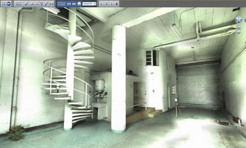 Image 3D obtenue par scan P20 (Leica)